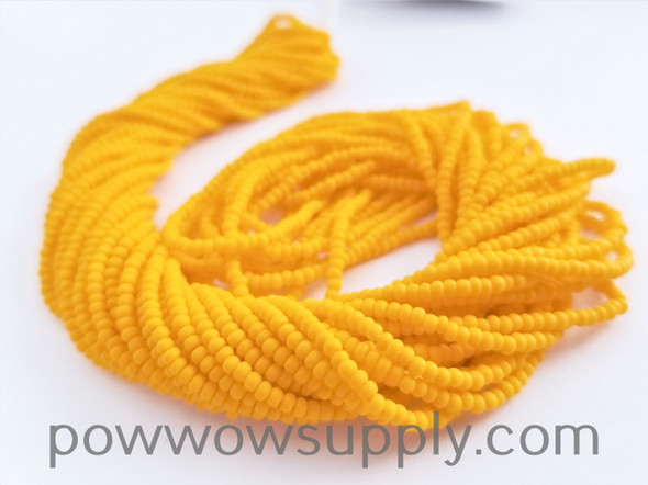 11/0 Seed Beads Opaque Matte Light Orange