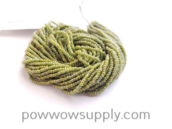 11/0 Seed Beads Opaque AB Olive