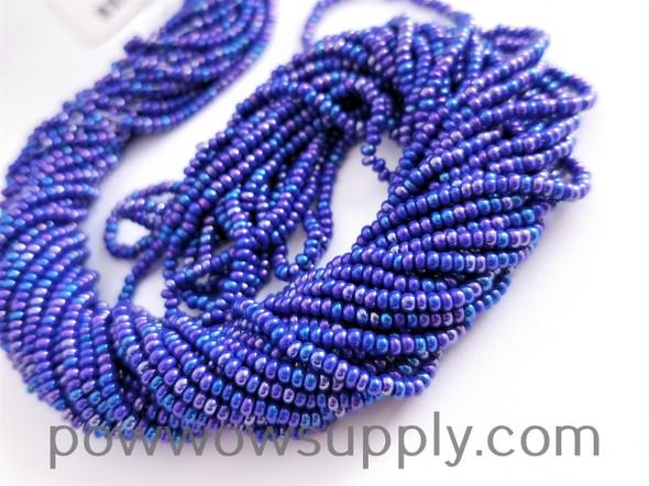 11/0 Seed Beads Opaque AB Medium Blue