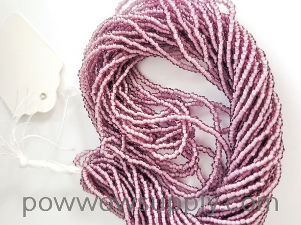 11/0 Seed Beads White Lined Light Amethyst