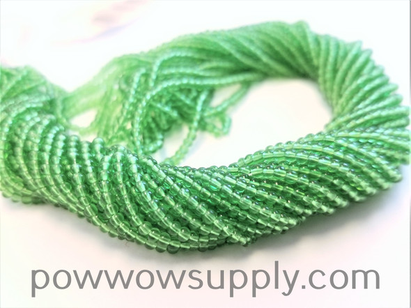 13/0 Seed Beads Transparent Pale Green