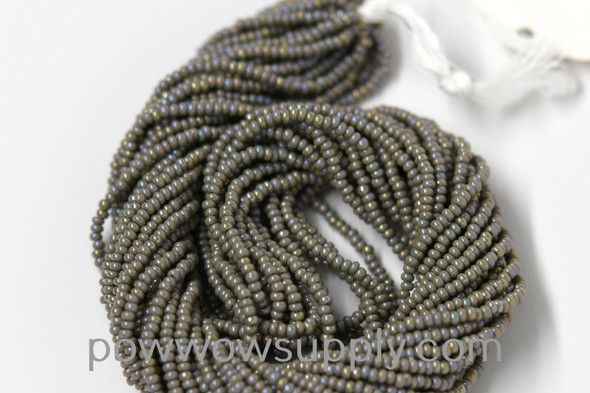 11/0 Seed Beads Opaque AB Grey