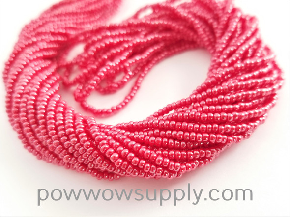 11/0 Seed Beads Opaque Luster Red