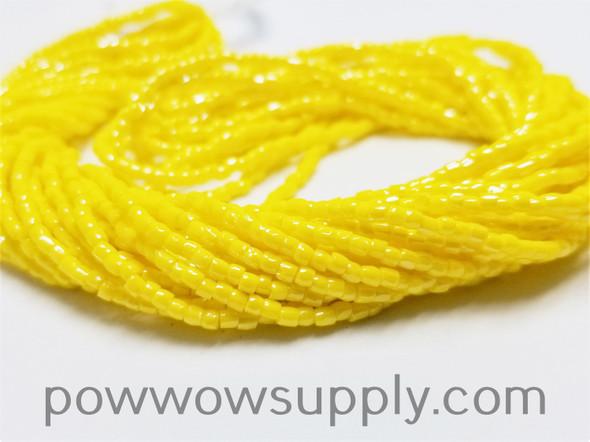 12/0 3-cuts Opaque Luster Lemon Yellow