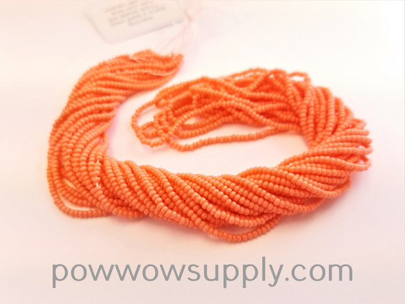 11/0 Seed Beads Opaque (dyed) Light Coral