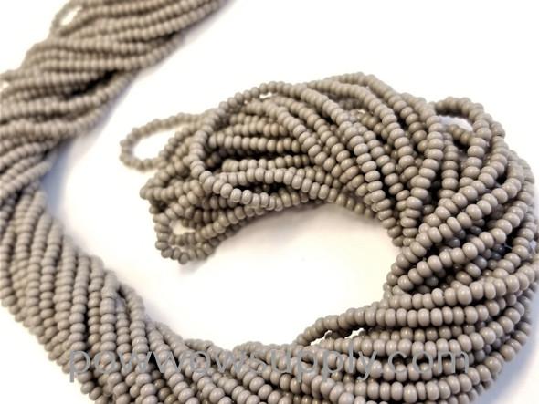 13/0 Seed Beads Opaque Grey