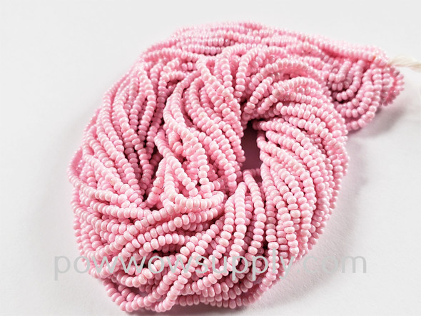 12/0 Seed Beads Opaque Chalk Pink (dyed)