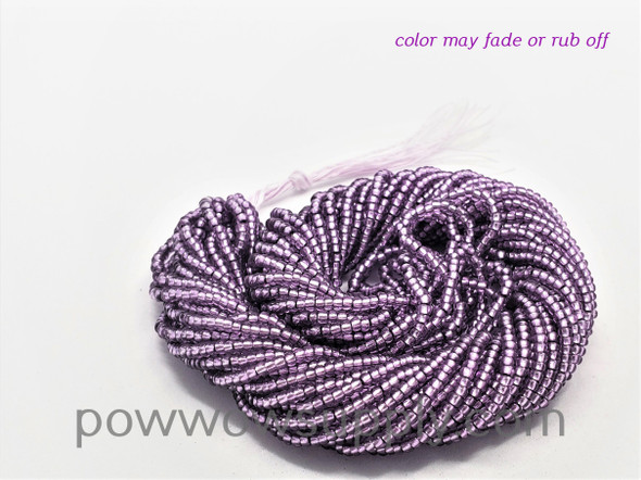 11/0 Seed Beads Silver Lined Lilac (dyed)
