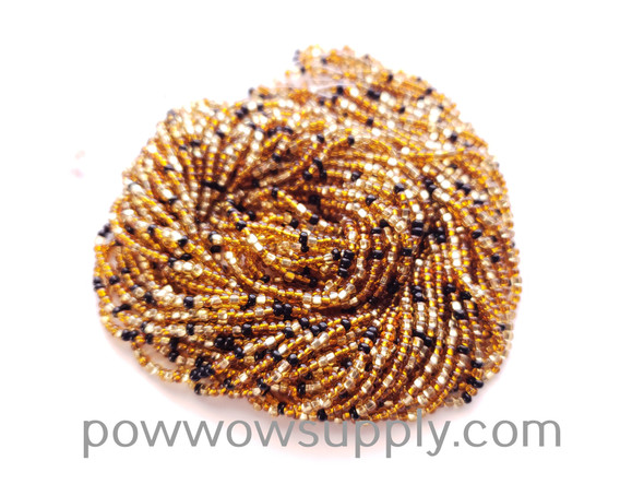 11/0 Seed Beads Silver Lined Topaz Mix