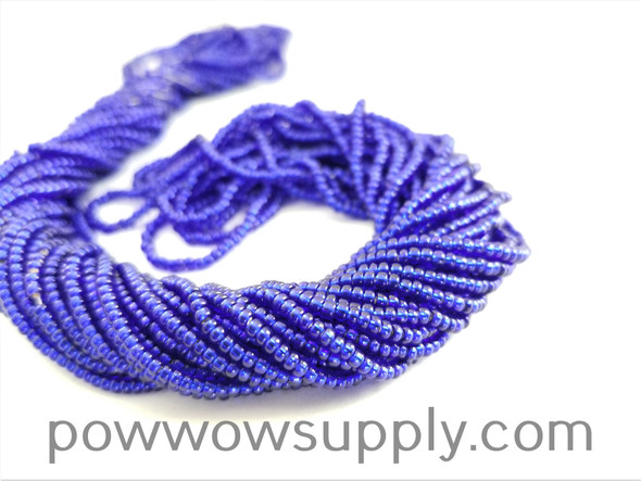 11/0 Seed Beads Silver Lined Cobalt
