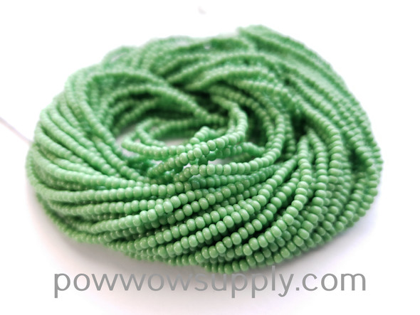10/0 Seed Beads Opaque Light Green