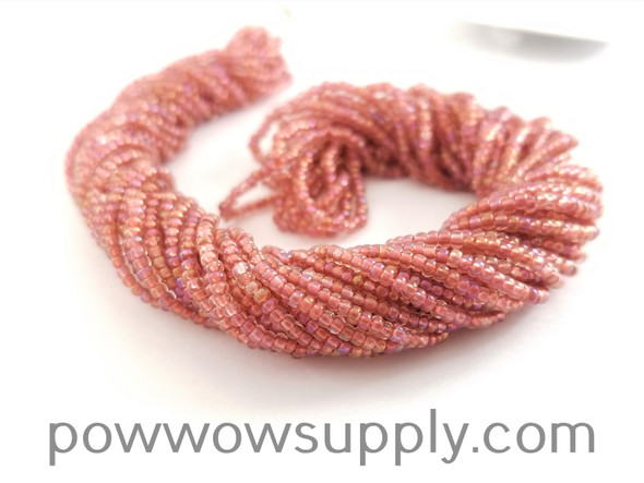 11/0 Seed Beads Transparent AB Deep Rose