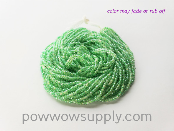 11/0 Seed Beads Light Green Lined Crystal
