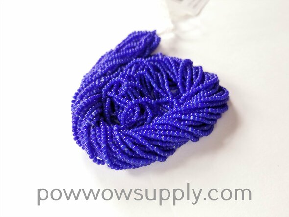 11/0 Seed Beads Blue Whiteheart