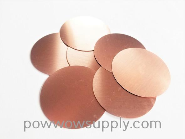 Anishinaabe Bimishimo Adult Copper Plain Flat Jingles (100 jingles)
