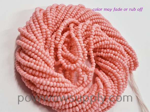 11/0 Seed Beads Opaque Salmon Pink (tint)