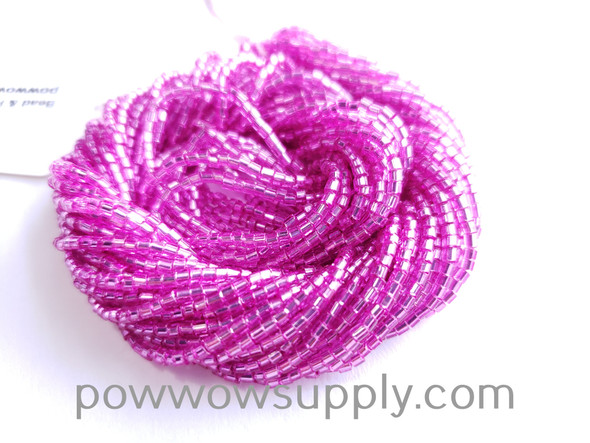 11/0 2-cuts Silver Lined Fuchsia (dyed)