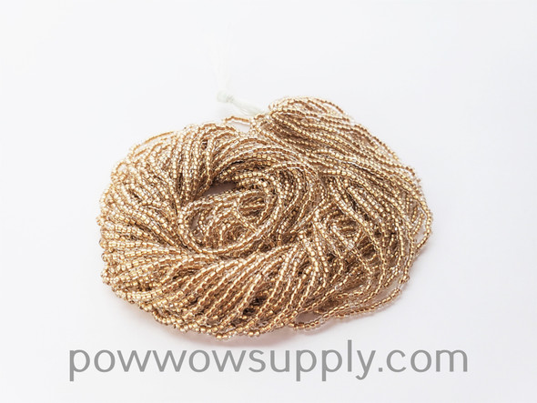 11/0 Seed Beads Gold Lined Crystal