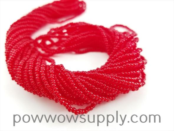 11/0 Seed Beads Transparent Dark Red