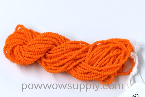 12/0 Seed Beads Opaque Orange