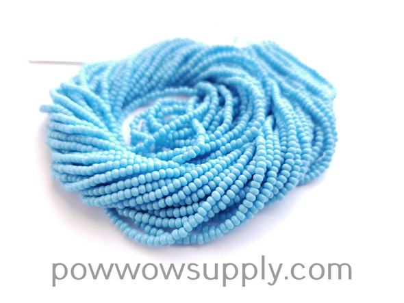 12/0 Seed Beads Opaque Light Turquoise