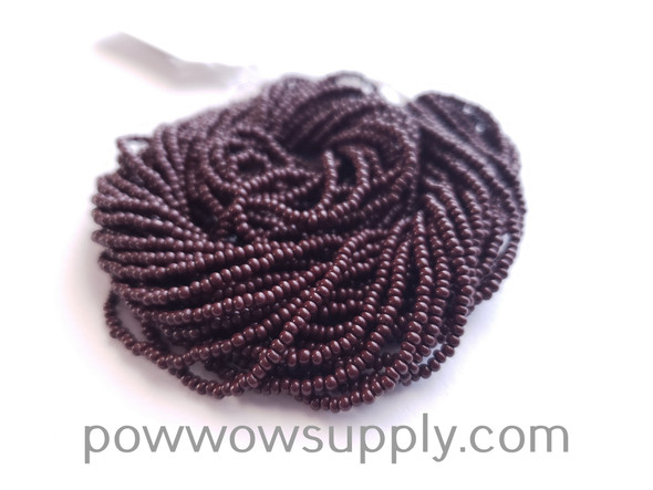 10/0 Seed Beads Opaque Dark Brown
