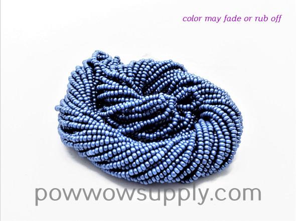11/0 Seed Beads Pearl Matte Slate Blue