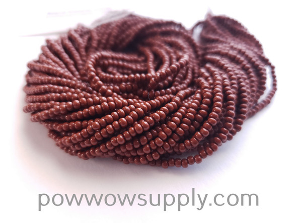 11/0 Seed Beads Opaque Light Brown