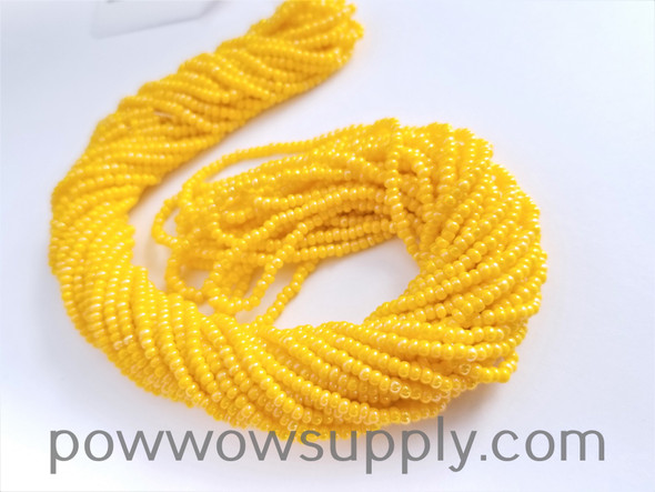 11/0 Seed Beads Opaque AB Golden Yellow