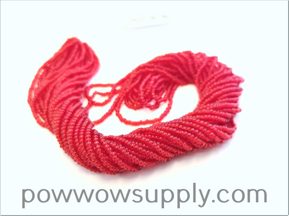 11/0 Seed Beads Transparent Red