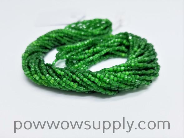 12/0 3-cuts Satin Green