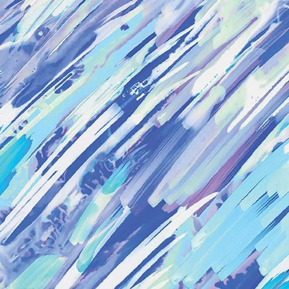 Brush Strokes Lt Blue-Aqua
