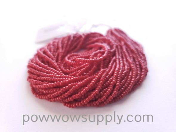 10/0 Seed Beads Opaque Dark Red
