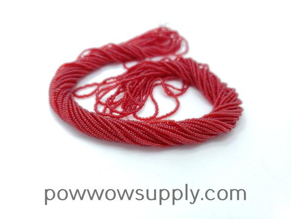 16/0 Seed Beads Transparent Dark Red