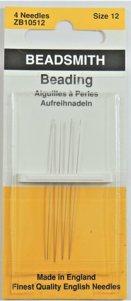 Size 12 Beading Needles (4 pack)