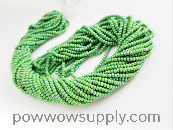 11/0 Seed Beads Opaque AB Light Green