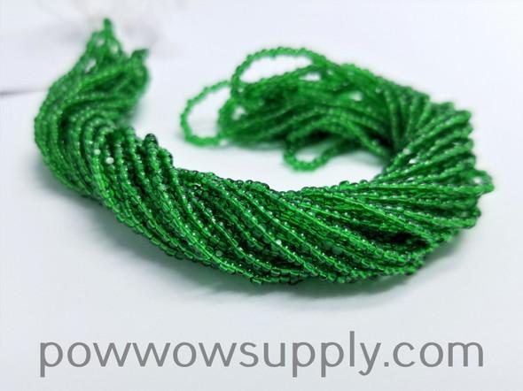 13/0 Charlotte Cut Transparent Medium Green
