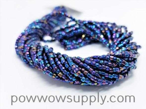 9/0 3-cuts Metallic Iris Blue