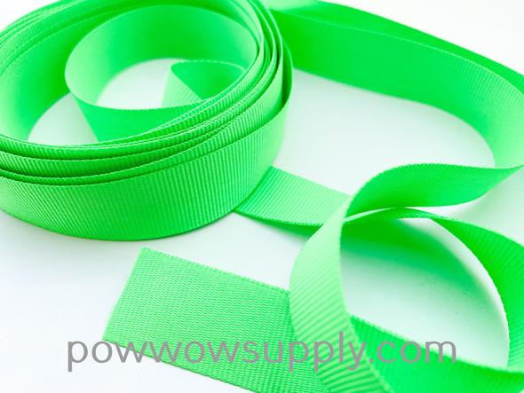 """3/4"""" Grosgrain Neon Green (5 yards)"""