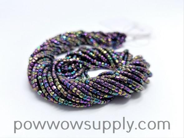 9/0 3-cuts Metallic Iris Purple