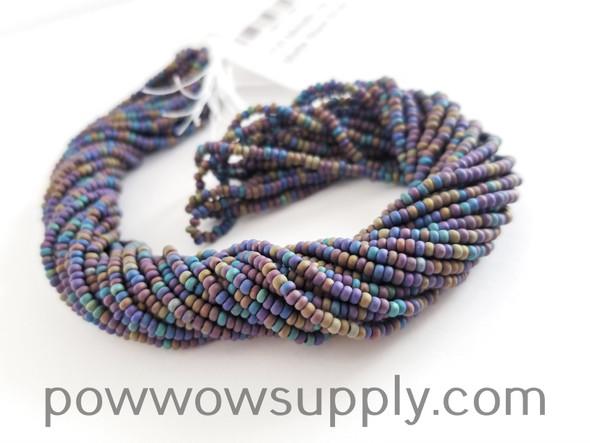 11/0 Seed Beads Metallic Iris Matte Black