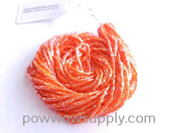 11/0 2-cuts Opaque Luster Orange