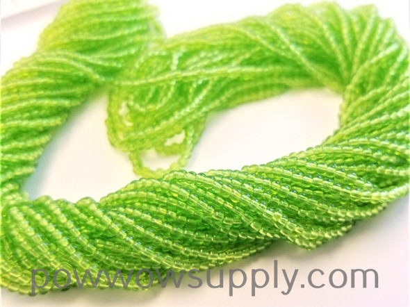 11/0 Seed Beads Transparent Lime