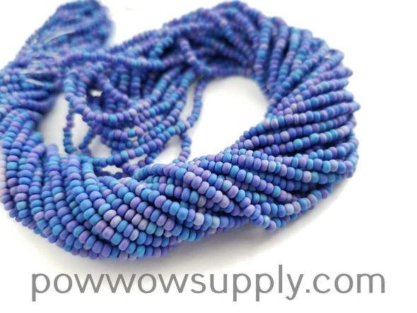11/0 Seed Beads Opaque AB Matte Medium Blue