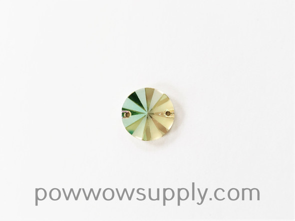 3200 Rivoli 10mm Crystal Luminous Green Partly Frosted (sold individually)
