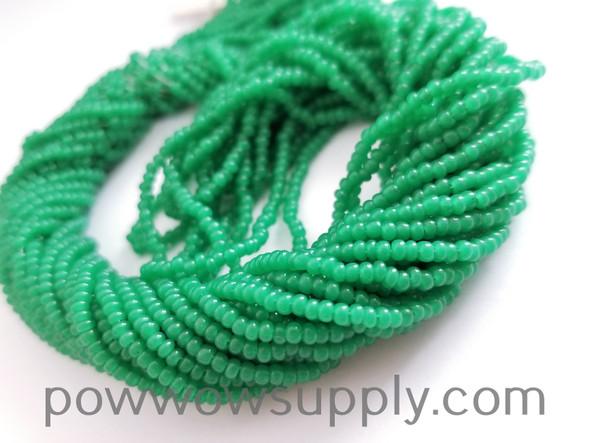 10/0 Seed Beads Opal Green