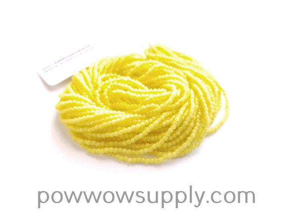 11/0 Seed Beads Yellow Whiteheart