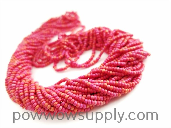 11/0 Seed Beads Opaque AB Matte Red