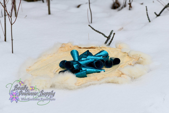 Anishinaabe Bimishimo Adult Turquoise Rolled Jingles