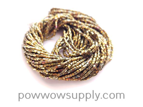 11/0 2-cuts Metallic Iris Gold